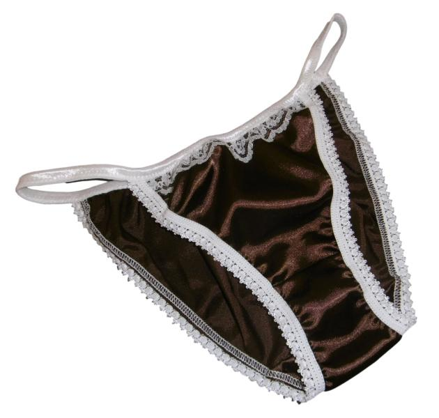 Brown and Ivory Tanga Panties
