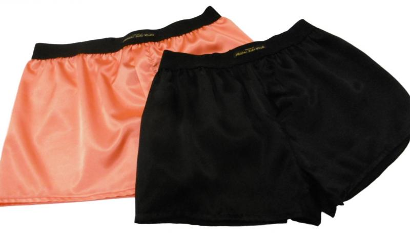 Halloween Orange and Black Satin Classic style Boxer shorts